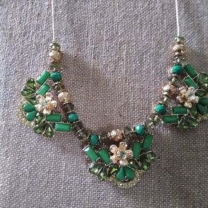 NY&Co. Green & Gold Statement Necklace
